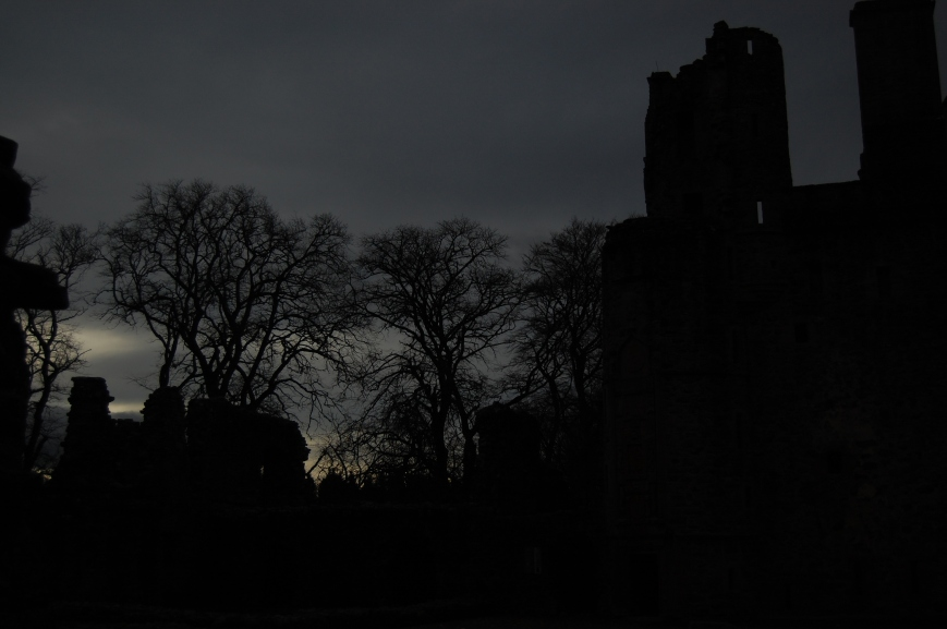 Huntly Castle Silhouette - Emma's Picture Postcards