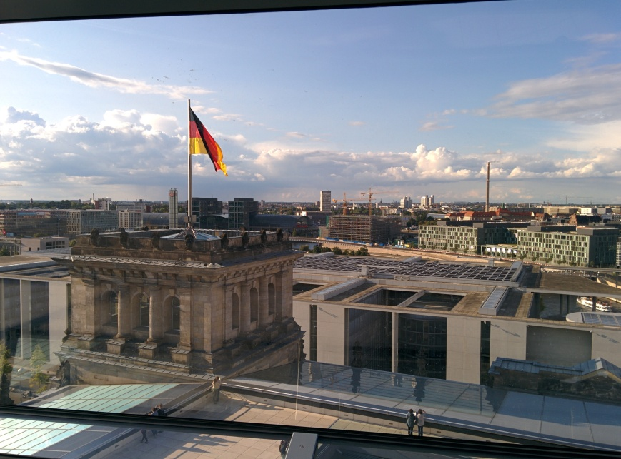 View from Reichstag, Berlin - Emma's Picture Postcards