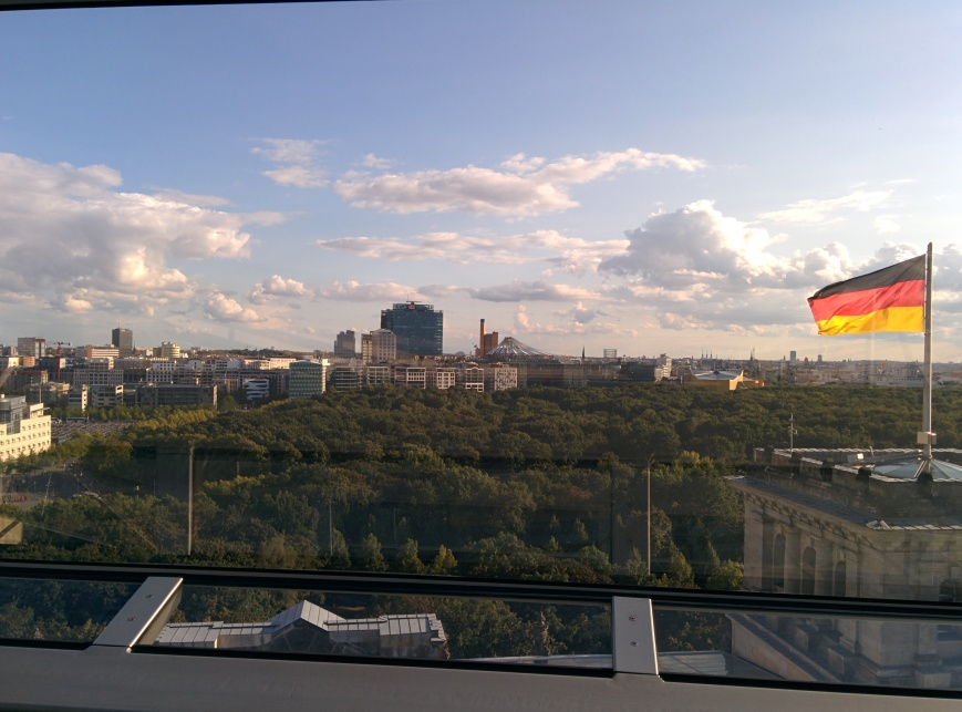 View of Potsdamer Platz from the Reichstag - Emma's Picture Postcards