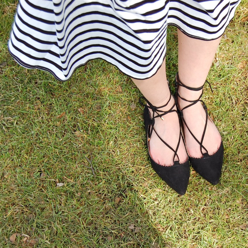 Topshop lace up shoes - Emma's Picture Postcards