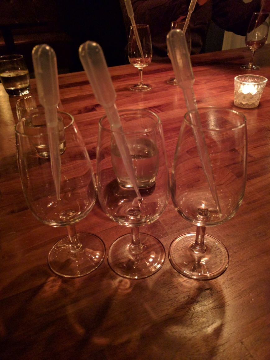 Gin Tasting, Orchid, Aberdeen - Emma's Picture Postcards